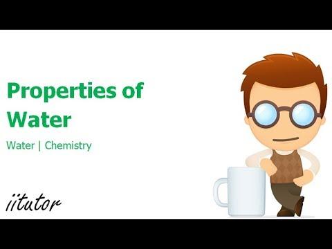 √ Properties of Water   iitutor