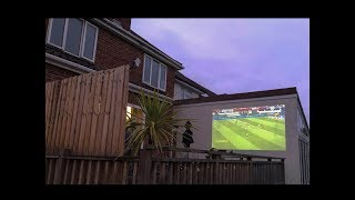 "I created my own 250"" Outdoor Cinema for less than you think!"
