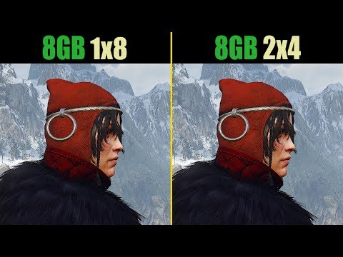 The Witcher 3 8GB RAM (Single channel vs. Dual channel)
