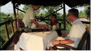 Breakfast at Camp Peak  at Four Seasons Tented Camp  Golden Triangle