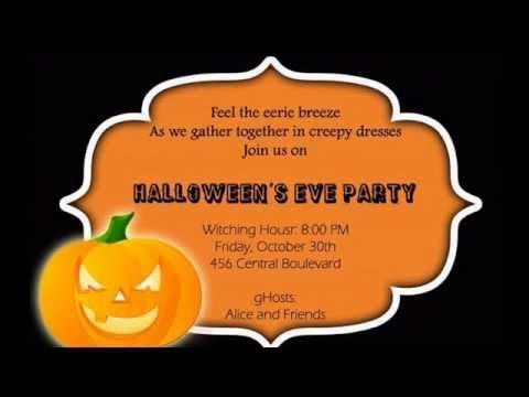 Creative Halloween party invitation ideas