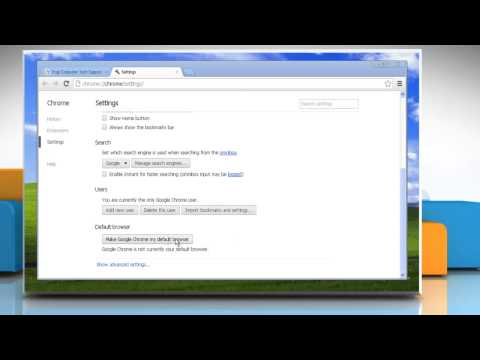 How To Make Google™ Chrome The Default Browser In Windows® XP