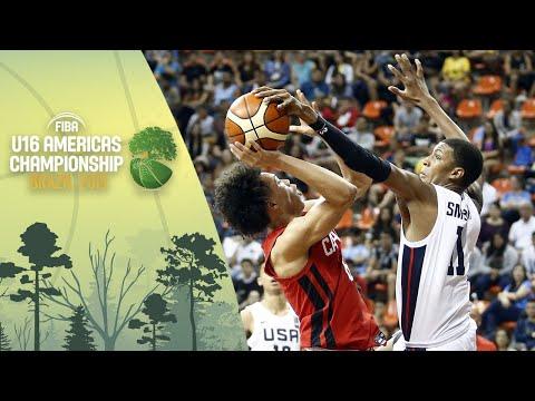 USA v Canada - Final - FIBA U16 Americas Championship 2019 [POR]