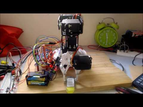 Simplest 6Dof Robotic Arm Movement
