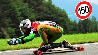 Increibles descensos en longboard a 150 km/h (NUEVO RECORD)