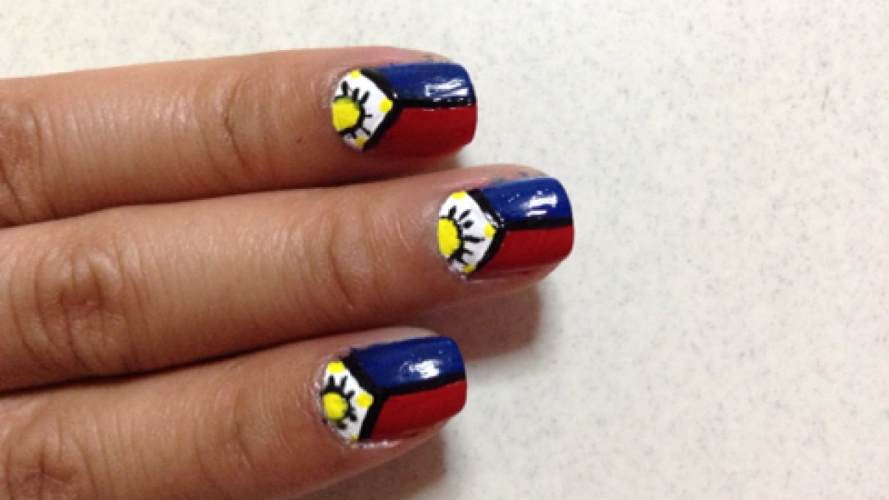 Create Cool Philippine Flag Nails Diy Beauty Guidecentral Youtube