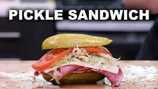 DIY Pickle Sandwiches ??  // Weird Food 101
