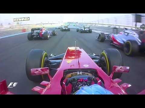 Alonso's Lightning First Lap | 2012 Abu Dhabi Grand Prix
