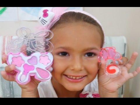 Makyaj Yapma Oyunu , çocuk Makyaj Seti Açtık ,Barbie Ve Elif Makyaj Yapıyor, Eğlenceli çocuk Videosu