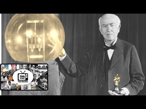 Thomas Edison Talking About the Invention of the Light Bulb (Late 1920s)