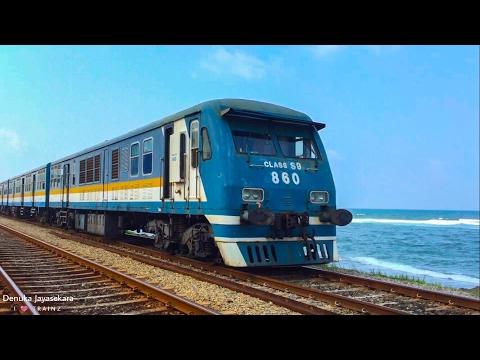 Sri Lanka Railways | Class S9 DMU smoking at Bambalapitiya