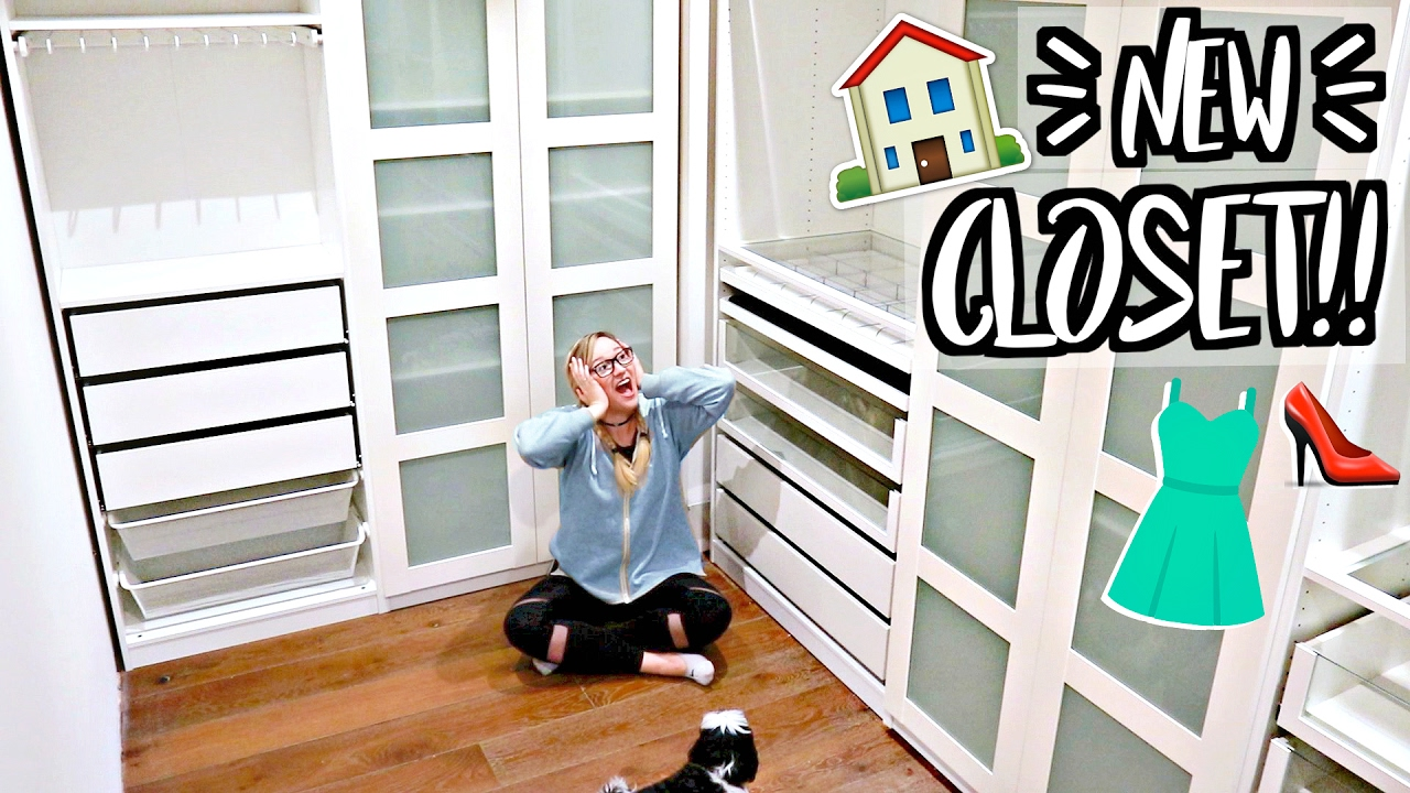 MY NEW CLOSET!!! IKEA PAX WARDROBE SYSTEM!!   YouTube