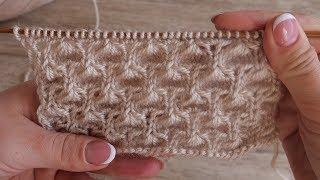 Объёмный ажурный узор спицами | Volume knitting pattern