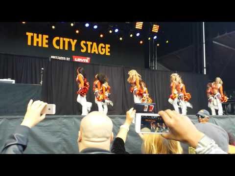 Super Bowl 50 Denver Broncos Cheerleaders Pep Rally 1
