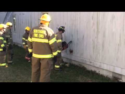 Firefighter training at Isle of Hope school