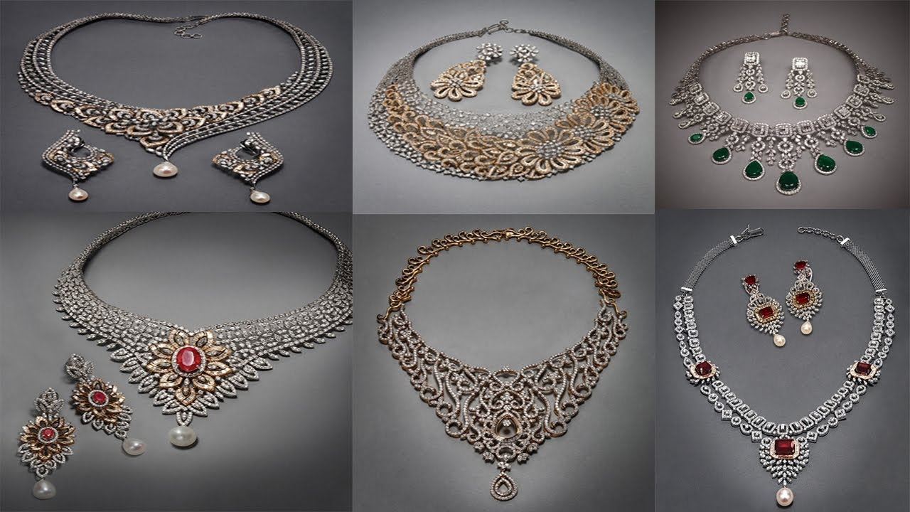 New Diamond Necklace Designs With Price Beautiful Diamond Necklace Tanishq Red Carpet Collection Youtube