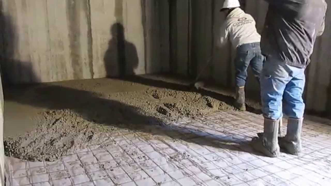 4 22 15 pouring basement floor youtube for Pouring a basement