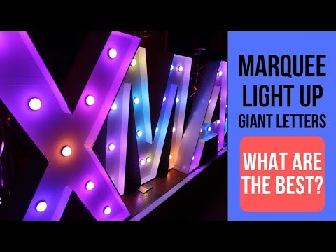 Marquee Lights | What Are The Best Giant Marquee Light Up LED Letters?