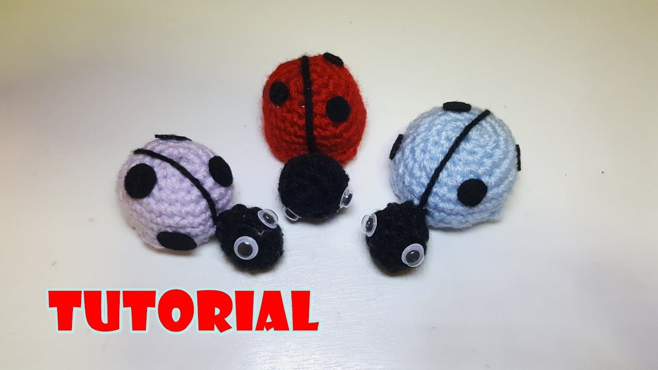 Tutorial Coccinelle Colorate Amigurumi Alluncinetto Crochet Ladybugs Amigurumi