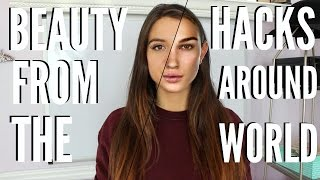 10 Beauty Hacks From Around THE WORLD You NEVER KNEW !!!