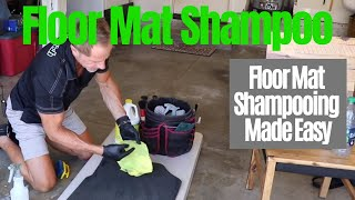 Auto Floor Mats: shampoo car floor mats easily