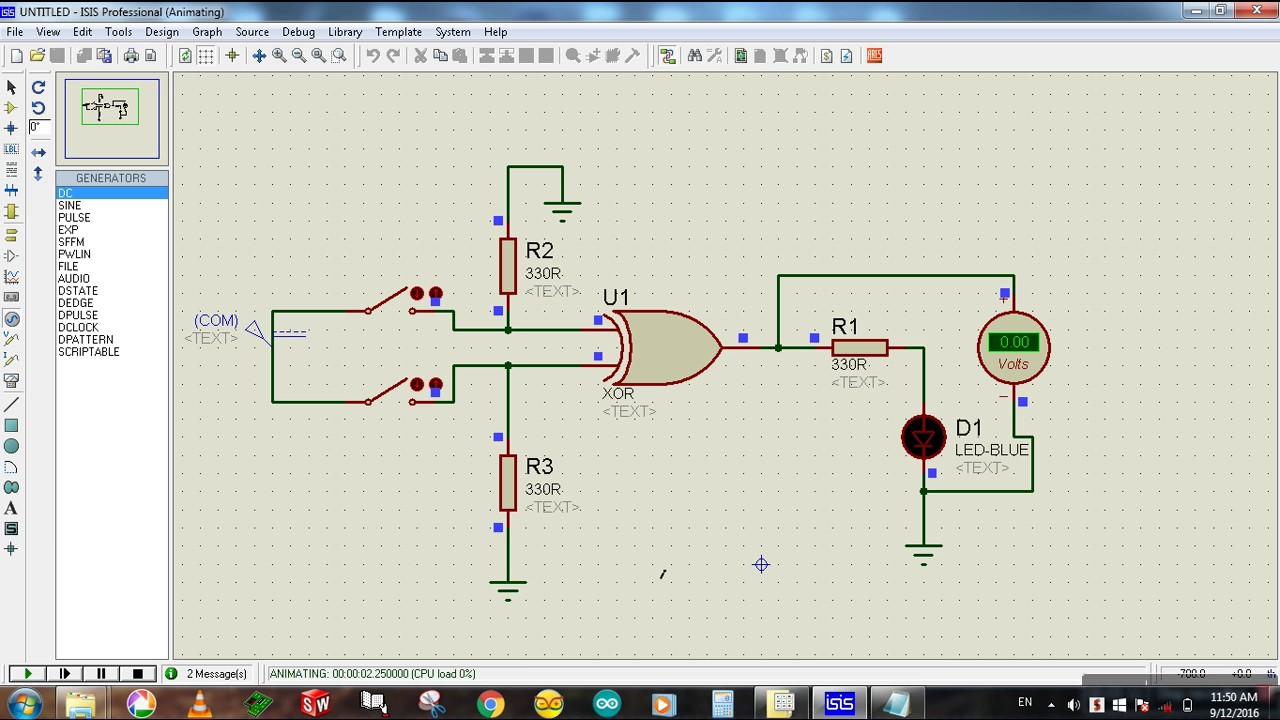 Xor Gate Simulation In Proteus Tutorial Youtube Circuit Simulator 7segment Led Decoder