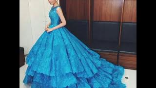 Длинные голубые платья