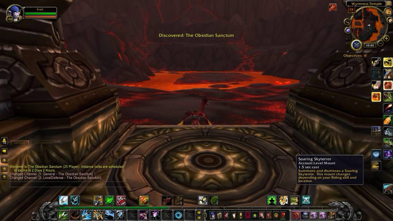 World of Warcraft: Obsidian Sanctum. How to get into the dungeon