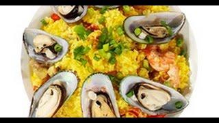 Рис с курицей и морепродуктами по-испански рецепт от шеф-повара /  Илья Лазерсон / Обед безбрачия