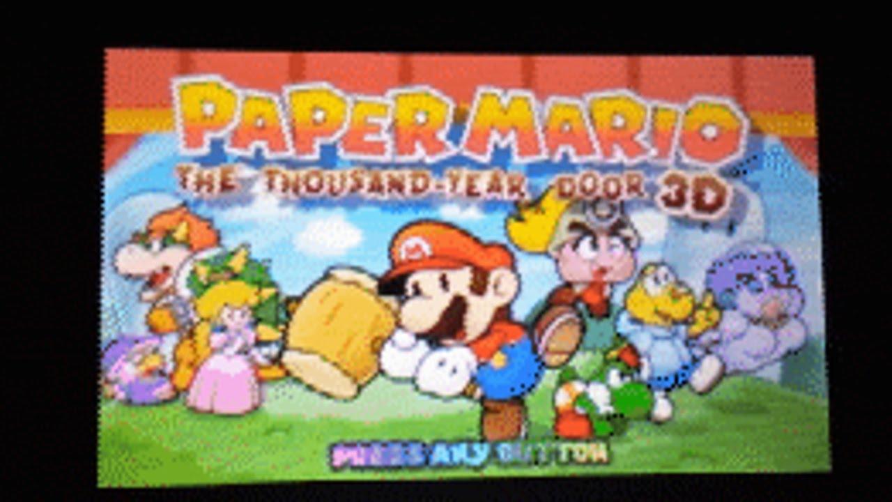 Paper Mario: The Thousand Year Door 3D - Leak (3DS/N3DS)