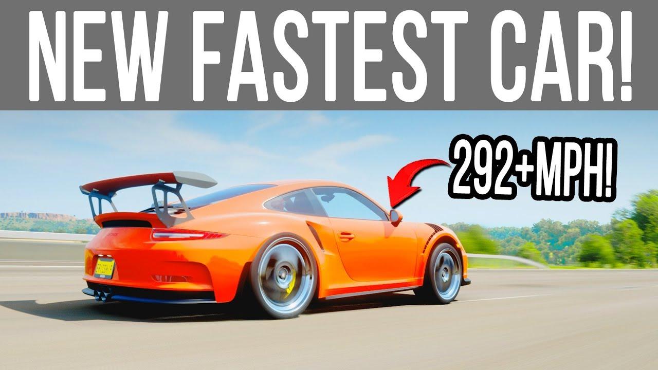 Forza Horizon 4 - NEW FASTEST CAR! PORSCHE GT3 RS 292+MPH ...