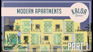 The Sims 4 - Modern apartment building Part 1 Speed Build