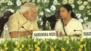 In Kolkata, Mamata Banerjee and PM Narendra Modi spar over new schemes
