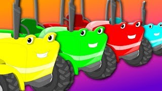Ten Little Tractors | Kids Nursery Rhyme | Counting Song | Rhymes For Children | Baby Songs
