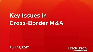 Key Issues in Cross-Border M&A