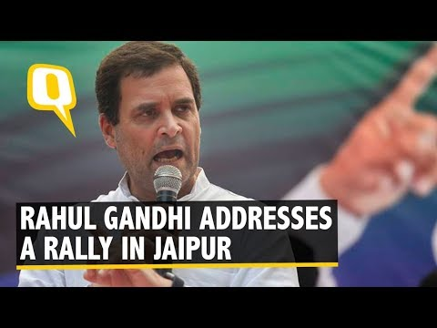 Rahul Gandhi Addresses Farmers' Rally in Jaipur
