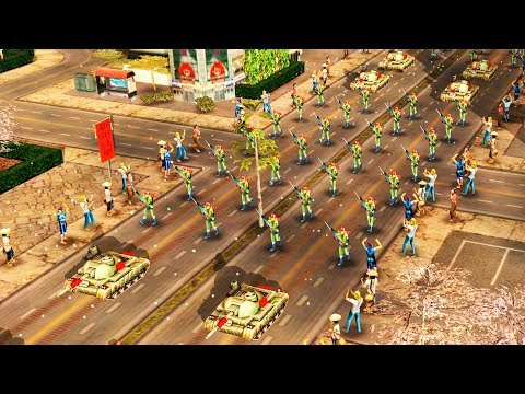 Chinese Military Parade Ambushed, Nuclear Attack Confirmed   Command & Conquer Generals Gameplay