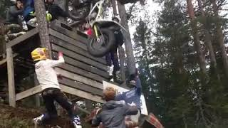 Biker Falls Off Dirt Bike On Ramp Wall and Lands on Feet - 1009723.mp3