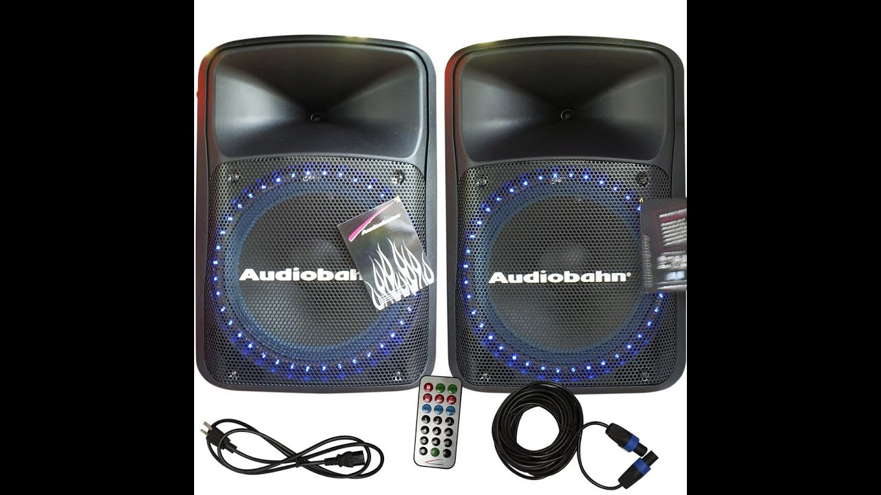 AUDIOBAHN - PRO/DJ LOUD SPEAKER - PRUEBA/UNBOXING -HD - YouTube