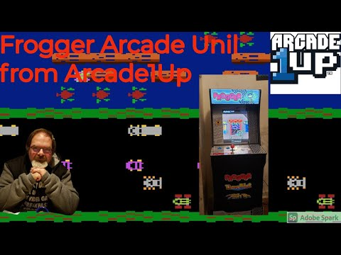 #Frogger #Arcade1Up Office Update 3: Frogger arcade machine from Arcade1Up plus game play from Unser Productions