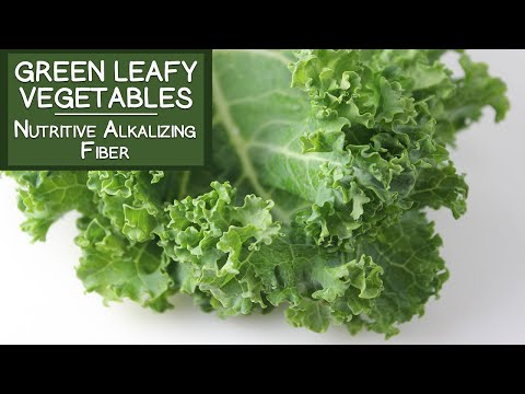 Green Leafy Vegetables, A Nutritive Alkalizing Food High in