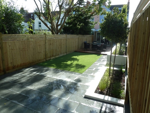 long narrow garden designs ideas uk