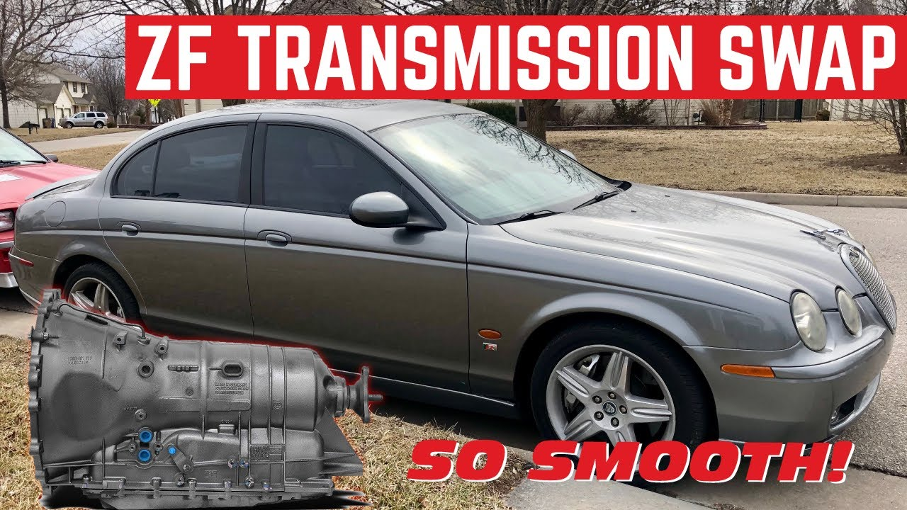 Installing A New Transmission In My 3 000 Jaguar S Type R It Shifts Youtube