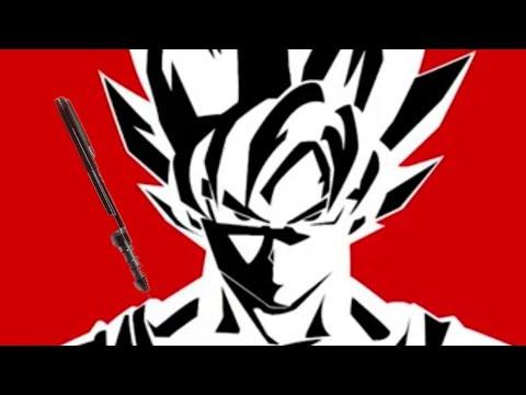 Dessin Goku Ssj 1 Noire Et Blanc Youtube