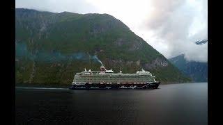 Cruising into Geirangerfjord to Geiranger, Norway [Time Lapse]