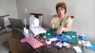 Costura francesa porta lenço para bolsa