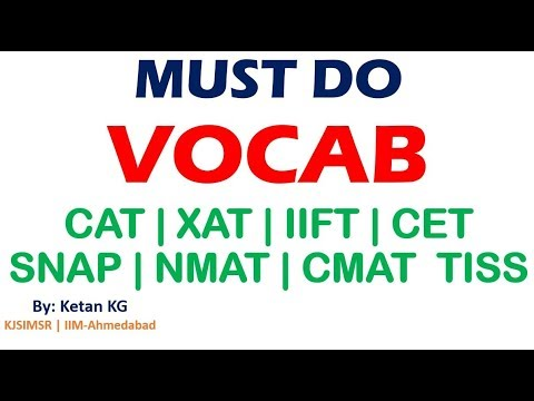 VOCAB Session 1 for CAT | XAT | IIFT | CET | SNAP | NMAT | CMAT | TISS