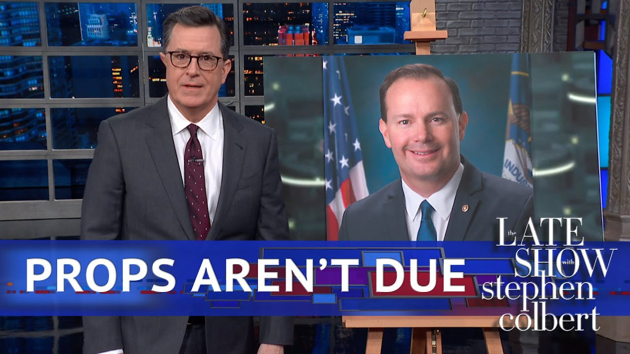 Colbert Gives Mike Lee The Mike Lee Treatment