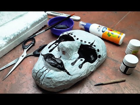 How To Make 3D Paper Mask DIY | Paper mask With Thermocol Mould Making