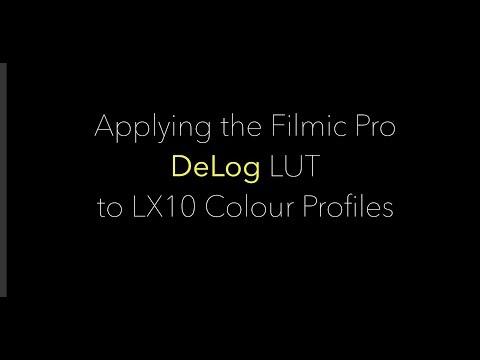 Part 2 - DeLog - Applying Filmic Pro DeLog LUT to the LX10 Colour profiles